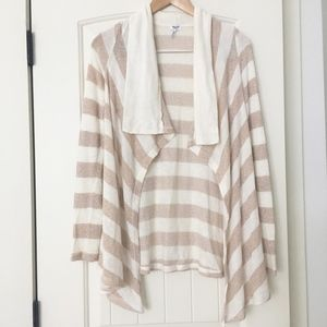 StripedMetallic Cardigan Sweater Splendid XS